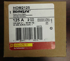 BRAND NEW Square D-Type HOM   HOM2125  2Pole 125Amp 120/240Volt Homeline Plug-in