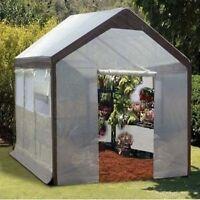 8' W x 10' L x 8' H - Greenhouse - STEEL FRAME - Built in Vents - Walk In
