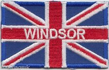 Windsor London Union Jack Flag Embroidered Badge Patch