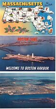 113-A Massachusetts excluding Boston - Lot of 51 Chrome & Earlier Postcards