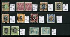 L'Islanda 1920-1931 Tollur imposta importazione + USATO fiscalmente... belle... 13 STAMPS