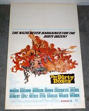 THE DIRTY DOZEN original 1967 ROLLED movie poster LEE MARVIN/CHARLES BRONSON