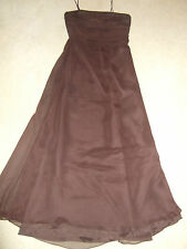 Brown Evening/Bridesmaid Dress by Watters and Watters Stole Bag Gloves Size 12