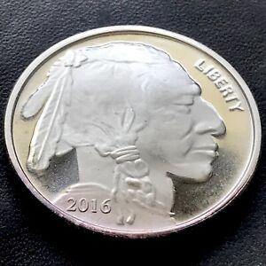 2016 American Indian/Buffalo One Ounce .999 Fine Silver Round BU Coin!!