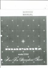 Marantz Service Manual para Model 2100