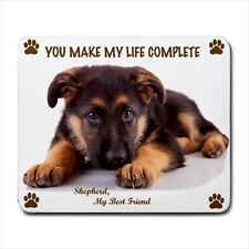"ALSATIAN GERMAN SHEPHERD Dog Puppy 9.25"" x 7.75"" Rubber Computer MOUSE PAD Mat"
