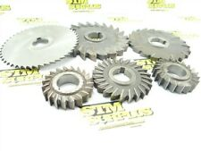 """6 HSS STRAIGHT & STAGGERED TOOTH MILLING CUTTERS 3"""" TO 6"""" DIA 1-1/4"""" BORES MOON"""