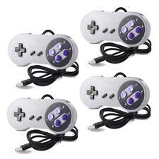4 Pack USB Controller for SNES Super Nintendo Games Retro Classic Gamepad US