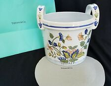 Vintage Tiffany & Co. Handpainted Cache Pot/Planter France 8.25""