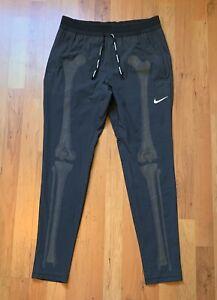 Men's Nike NRG Skeleton Black Reflective Running Pants CD6403-010  Dri-Fit Sz M
