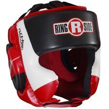 Ringside Ultra Light Sparring Boxing Headgear - Red/White/Black