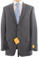Hickey Freeman NWT Sport Coat Size 44L In Gray & Black Herringbone $1,395