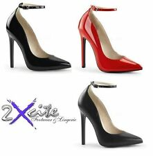 Pleaser Synthetic Leather Very High (greater than 4.5\) Women's Heels""