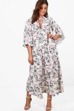 Boohoo Plus April Floral Print Maxi Dress Ivory Size UK 18 rrp £25 DH170 GG 05