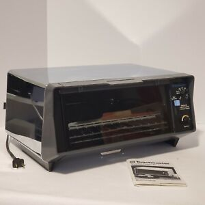 Vintage Toastmaster Toaster Oven Broiler Model 336 With Trays & Manual Chrome