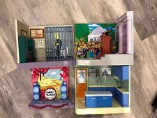 Simpsons Interactive Environment Lot Of 4 Playmates WoS Collectible RARE