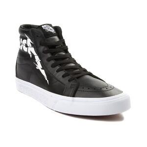Vans Metallica Black Sk8 Hi Reissue Shoes Womens Sneakers Runners Hi Tops