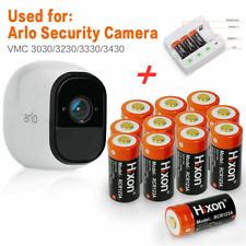 12X Hixon 3.7V 16340 Battery R CR123A Rechargable Arlo Camera Batteries Charger