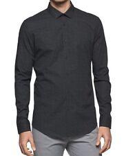 Calvin Klein Men's KJ Slim-Fit Geometric Cotton Shirt , Black, Size XL, MSRP $79