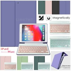 """Bluetooth Keyboard Stand Case Cover For iPad Mini 4 5 2019 7.9"""" w/ Pencil Holder"""