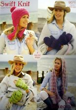 SUPER CHUNKY CABLED HAT SCARF & MITTS KNITTING PATTERN STYLECRAFT 9071