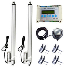 "Complete Dual Axis Solar Tracking Tracker 12V 16"" Linear Actuator Controller Kit"