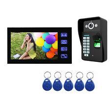 """7"""" Video Intercom HD Fingerprint Camera Video Door Phone ID Card Access Control"""