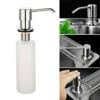 300ML Kitchen Sink Soap Dispenser Polish Stainless Hand Liquid Pump Bottle DIY ~
