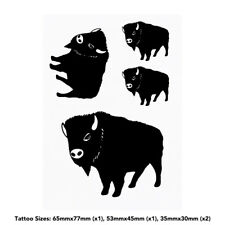 'Bison' Temporary Tattoos (TO021624)