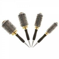 Head Jog Professional Gold Thermal Ceramic Radial Hair Brush With Heat Vents