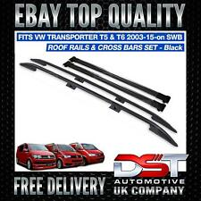 VW T5 T6 Transporter Roof Rack Rails/Cross Bars Set SWB BLACK OEM QUALITY