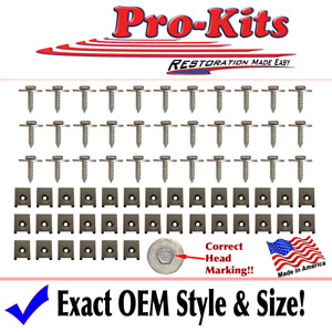 Fits 70 Ramcharger Hood Clip Bolt Fastener Hardware Kit Superbee Coronet R/T