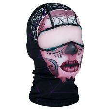 Pink Sugar Skull Day of Dead Muerte Balaclava Face Mask Free Shipping Biker