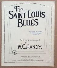 W C Handy The Saint Louis Blues UK Sheet Music