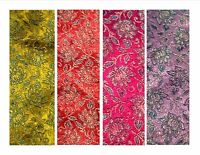 Imitation/faux Indian silk brocade shimmer floral dressmaking fabric 1.18m wide