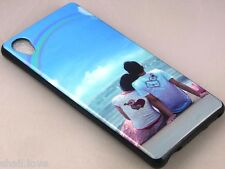 DESIGNER PRINTED GLOSSY SOFT SILICON BACK CASE COVER FOR SONY XPERIA M4 AQUA