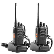 2x Baofeng BF-888S UHF 400-470MHz Two-way Radio Flashlight Walkie Talkie