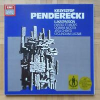 B367 CZYZ PENDERECKI LUKAS PASSION 2 x LP EMI HARMONIA MUNDI STEREO