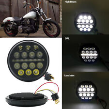 """5-3/4"""" 5.75inch LED Projector Headlight Hi/Lo for Harley Motorcycles Dyna Round"""