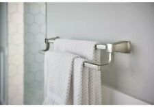 MOEN Hensley 24 in. Double Towel Bar with Press and Mark in Brushed Nickel