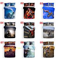 Motorbike Single/Double/Queen/King Bed Quilt/Doona/Duvet Cover Set Pillowcase