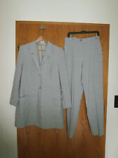 ULLA POPKEN SELECTION - Schicker Hosenanzug mit Longblazer in Gr.: 42 - Grau