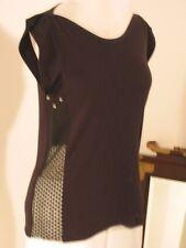 KATAYONE ADELI Unique Design Grommets and Mesh Lace Black Top NWT  S M