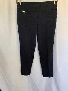 LISETTE SPORT MONTREAL PULL ON STRETCH GOLF PANTS Black / Taupe Size 12