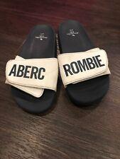 Abercrombie Kids Boys Youth Shoes Sandal Slide 3/4 Navy White Euc Summer