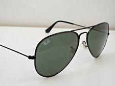 Authentic Ray-Ban RB 3025 L2823 Black Green G-15 58 mm Aviator Sunglasses $210