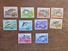 TOKALAU 1984 FISH SET 10 MINT STAMPS