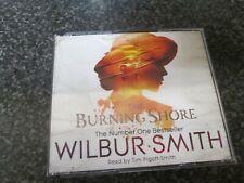 WILBUR SMITH - THE BURNING SHORE - 4 CD AUDIO BOOK SET