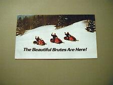 Vintage Alouette Snowmobile Foldout Brochure