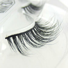 Long False lashes Natural 100% Siberian Mink Fur 3D False Eyelashes Beauty Lash